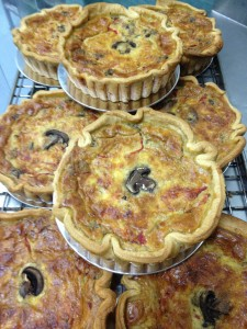 Chicken Mushroom Red Pepper Quiche